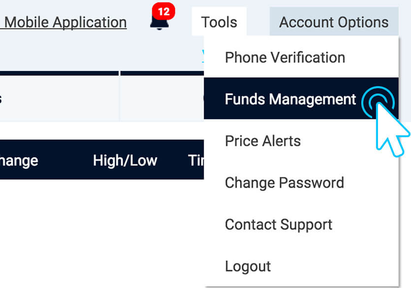 Checking status of withdrawal request